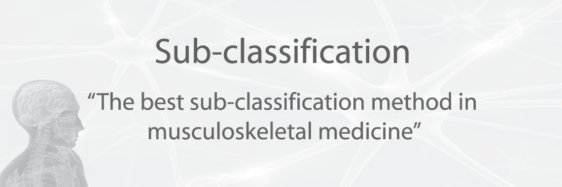 Sub-classification